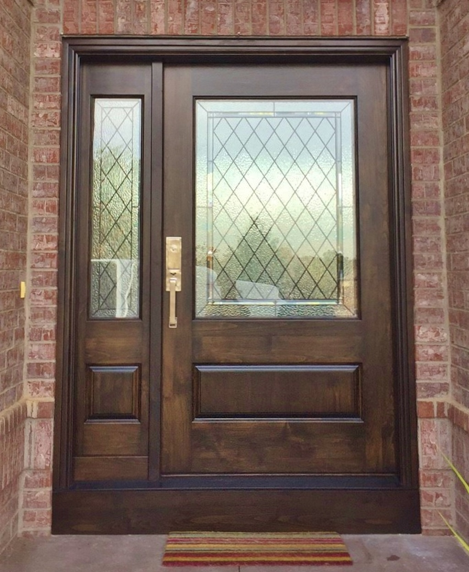 Entryway Stained Glass Brown
