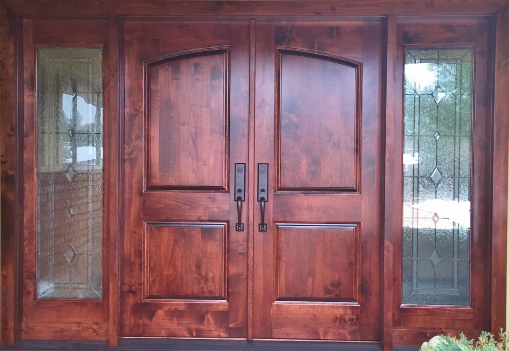 Entryway Stained Glass Oak
