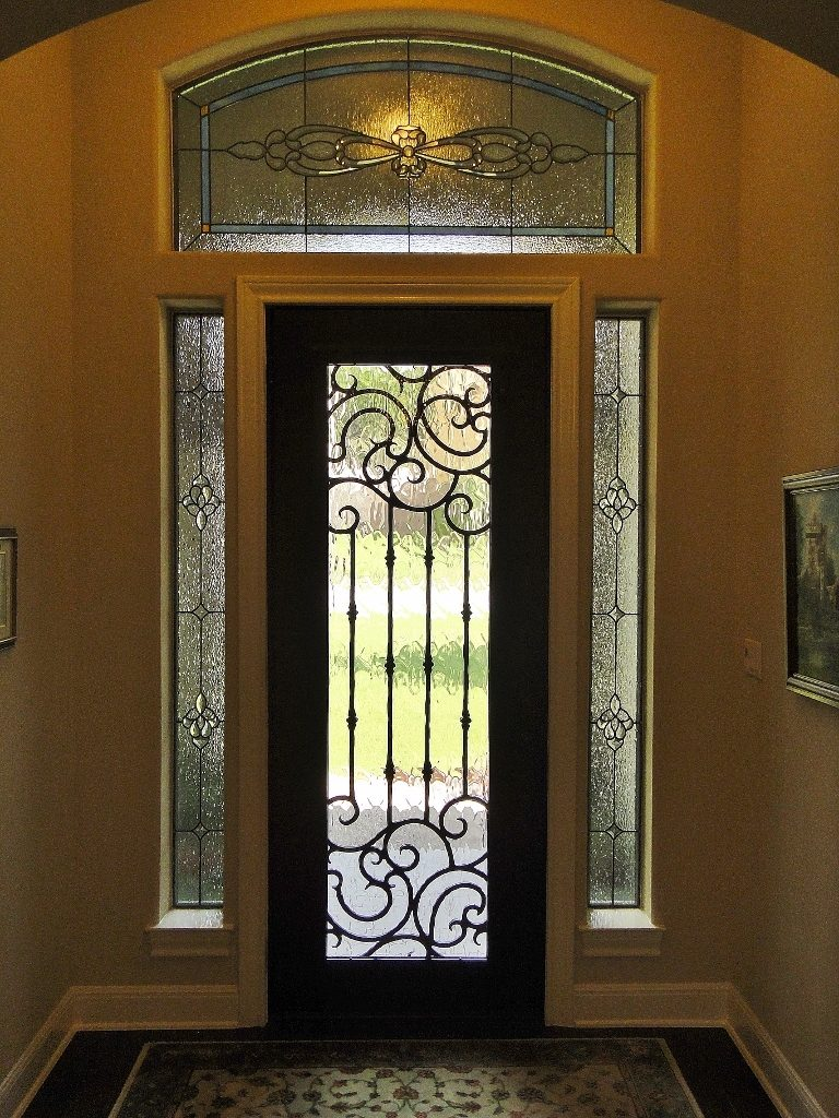 Entryway Stained Glass floral