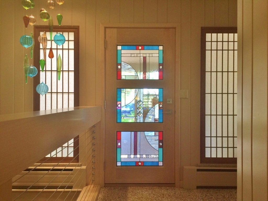 Entryway Stained Glass with Sidelights