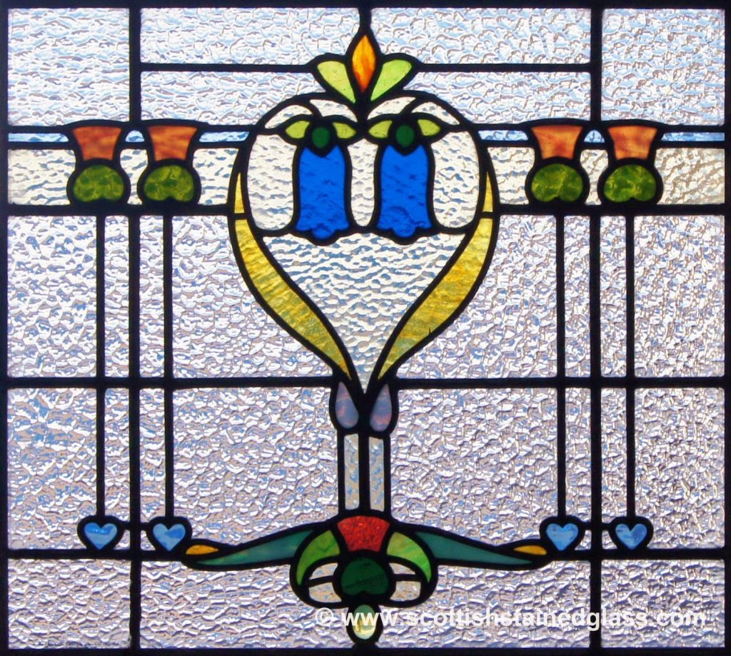 Religious Stained Glass blue