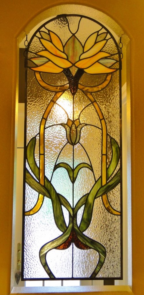 Sidelight Stained Glass orange