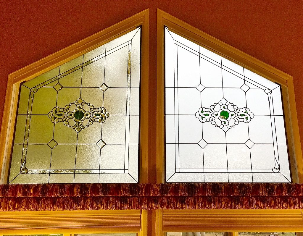 Transom Stained Glass edged